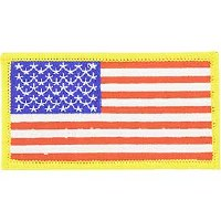 Ptch - FLAG USA,RECT,GOLD