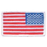 Ptch - FLAG USA,RECT.WHITE R
