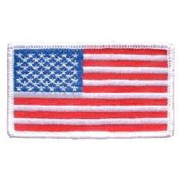 Ptch - FLAG USA,RECT.WHITE