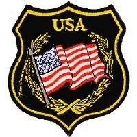 Ptch - FLAG,USA,SHEILD,BLK