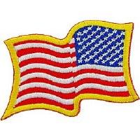 Ptch - FLAG USA,WAVY,GOLD (RT)