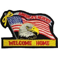 Ptch - FLAG,USA,WELCOME HM