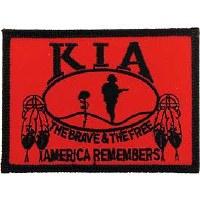 "Ptch - KIA,HONOR,FLAG,RED""NATI"