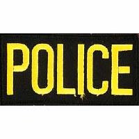 Ptch - POLICE,TAB,(GLD/BLK