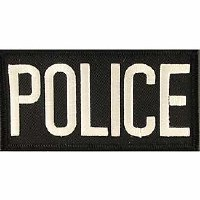 Ptch - POLICE.TAB.(WHT/BLK)