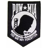 Ptch - POW*MIA (BLACK) 3.5 in