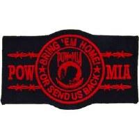 Ptch - POW*MIA,BRING'EM,Red