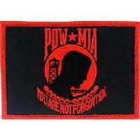 Ptch - POW*MIA,FLAG,RED/BK