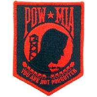 Ptch - POW*MIA (RED) 4.25 in