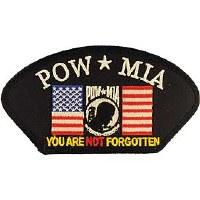 Ptch - POW*MIA,W/FLAG Hat
