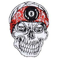 Ptch - SKULL,RED BAND