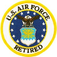 Ptch - USAF LOGO,RETIRED