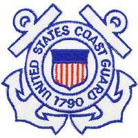 Ptch - USCG,AUXILIARY,WHT