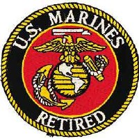 Ptch - USMC LOGO,RETIRED