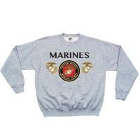 Sweatshirt - USMC/Emb Crew SM