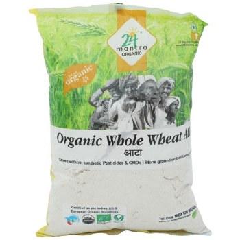 24 Mantra Organic Whole Wheat Flour  (Atta) 20 Lbs