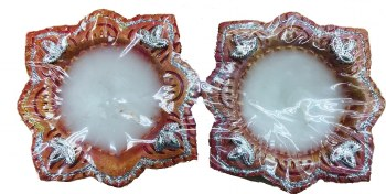Fancy Wax Clay Diya 2pc
