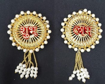 FANCY SHUBH LABH (WHITE BEADS)