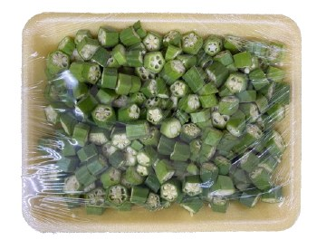 Fresh Cut Okra Tray