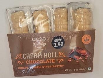 Deep Chocolate Cream Roll 4pc