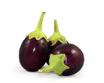 Fresh Round Indian Eggplant - Sold by Weight - Pound