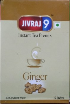 JIVRAJ 9 TEA INSTANT GINGER TEA 10POUCHES