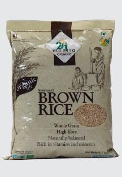24 Mantra Organic Brown Sona Masoori Raw Rice 10lb