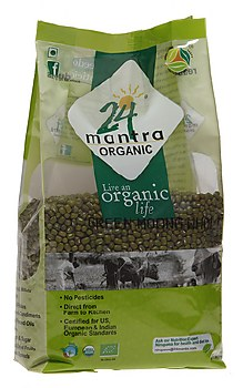 24 Mantra Organic Moong Whole 2LB