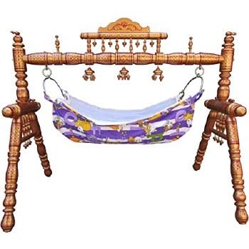 Traditional Indian Wooden Baby Swing - Sankheda Ghodiya