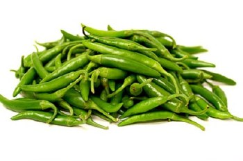 Fresh Small Green Chilly - Thai Chilly - Sold by Weight - Pound