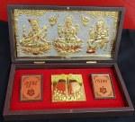 GIFT BOX (GANESH LAXMI SARAWATI GOD STATUES WITH FOOT PRINTS)