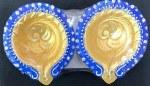 FANCY CLAY DIYAS/DIWA NO WAX (BLUE GOLD) 2PC SET