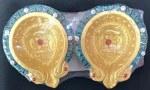 FANCY CLAY DIYAS/DIWA NO WAX (DARK GREEN GOLD) 2PC SET