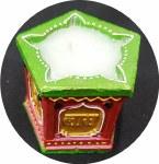 FANCY CLAY TULSI KYARA DIWA/DIYA SMALL WITH WAX 1PC