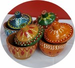 FANCY HAND CRAFTED MINI CLAY CUPS FOR DAHI (SINGLE PIECE)