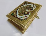 7''X5'' MUKHWAS BOX GOLD MEENA