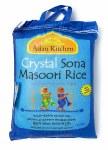 ASIAN KITCHEN CRYSTAL SONA MASOORI RICE 20 LB