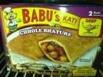 BABU'S FROZEN CHOLE BHATURE 8OZ
