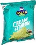 BALAJI CREAM & ONION WAFERS 135G
