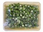 Fresh Cut Okra Tray