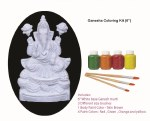 GANESH VISARJAN COLORING KIT - CUSTOMIZE CLAY GANESH WITH YOUR OWN COLORS!