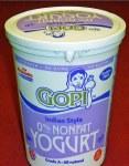 GOPI YOGURT NON FAT 4LB