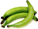 FRESH GREEN PLANTAIN-SOLD BY WEIGHT-PER LB