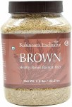 KOHINOOR BROWN BASMATI RICE 2LB JAR