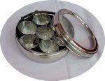 STAINLESS STEEL SEE THROUGH MASALA DABBA (CONTAINER)