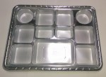 11 SECTION (COMPARTMENT) SILVER PLASTIC PLATES 50 COUNT