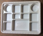 11 SECTION (COMPARTMENT) WHITE  PLASTIC PLATES 50 COUNT