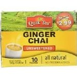 QUIK TEA UNSWEETENED GINGER TEA 10 CT