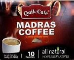 QUIK CAFE MADRAS COFFEE 10 CT