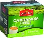 QUIK TEA UNSWEETENED CARDMOM CHAI 10 CT